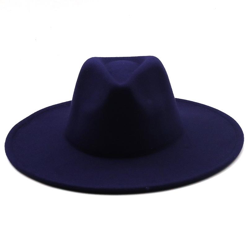 Retro brim big brim autumn and winter wool top hat  NHXV366950