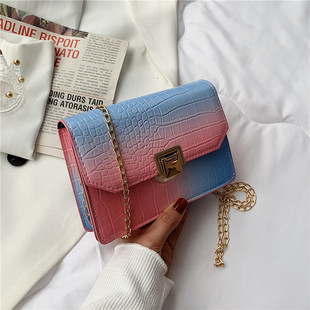 Small fresh bag 2021 new trendy fashion female summer popular casual chain messenger bag net red one-shoulder small square bag