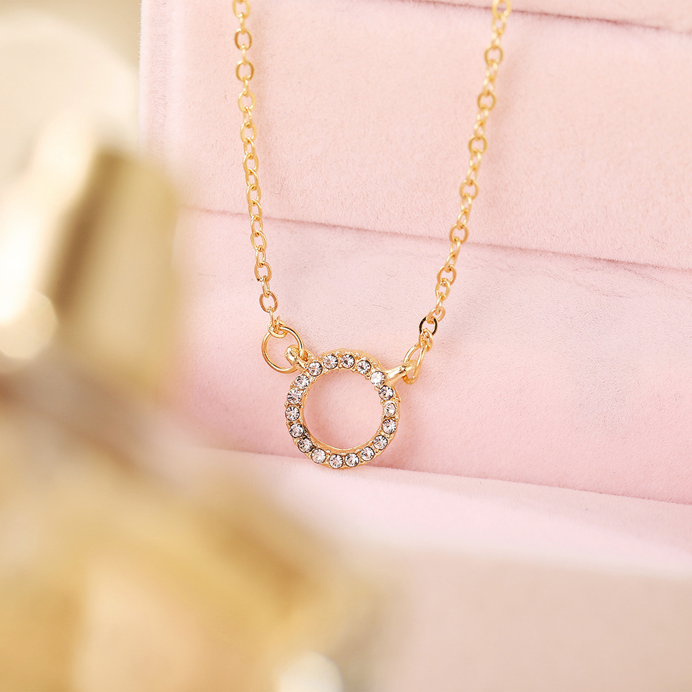 creative retro simple full diamond necklace NHPJ316428