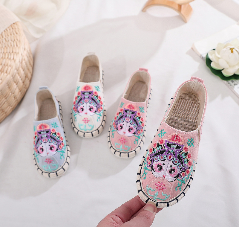 Beijing thousand layer sole children shoes national embroidered girls boys shoes