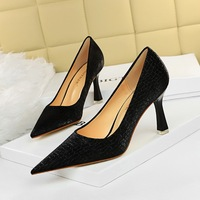 0382-1 the European and American fashion contracted wind sexy club for women's shoes show thin shallow mouth pointed stone grain single shoes restoring ancient ways
