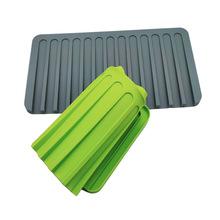 新款厨房硅胶沥水垫大号 隔热桌垫 吧台时尚杯垫 防滑多功能餐垫