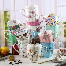 米兰达骨瓷杯马克杯陶瓷杯大容量水杯早餐杯欧式咖啡杯陶瓷杯礼盒