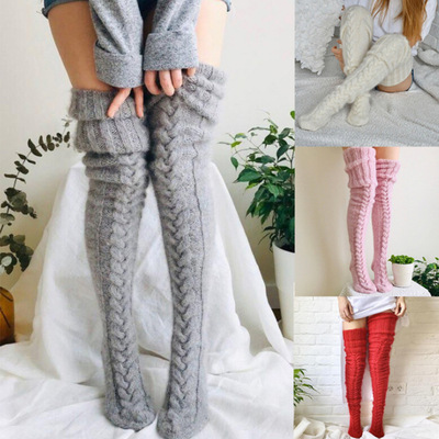 3 pairs Women young girls mini dress Wool foot warmer stage performance dance Stockings over the knee socks stockings pile stockings thick socks for women