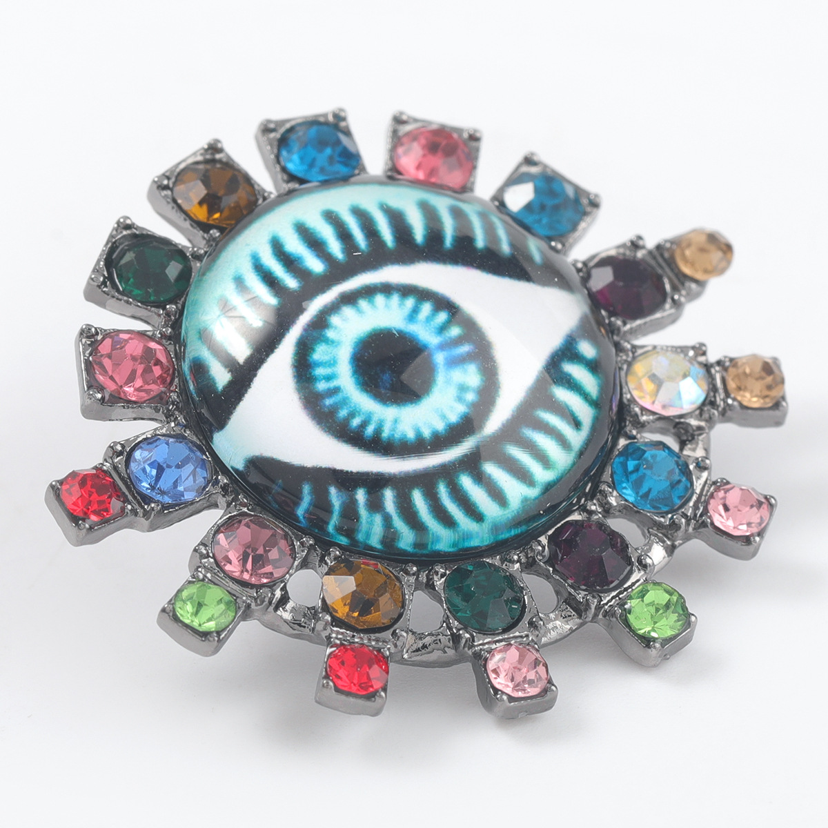 retro alloy resin eyes earrings  NHJE316657