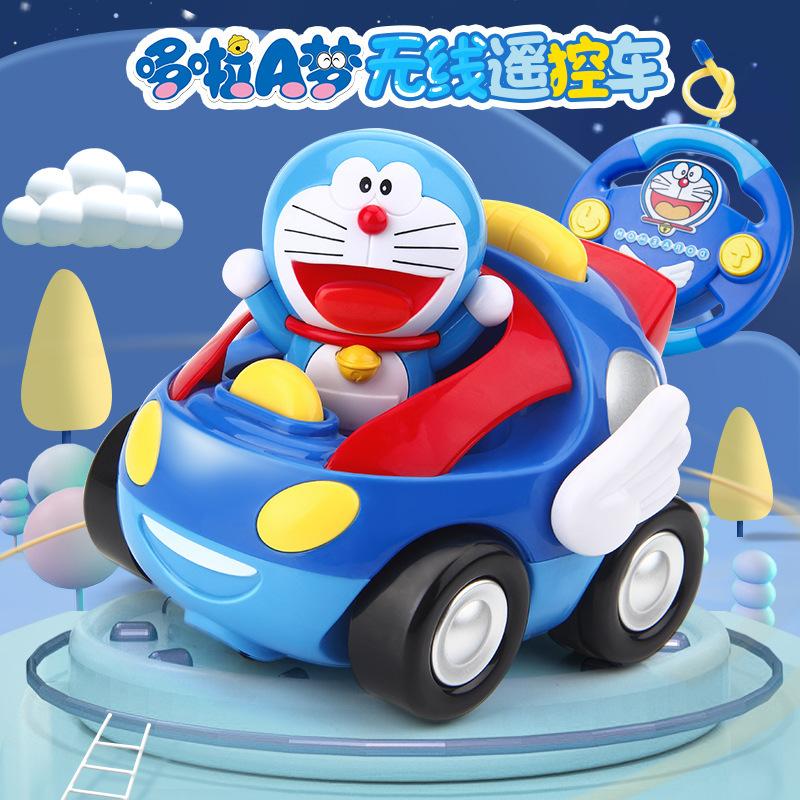 厂家直售哆啦A梦手办遥控车1-6岁电动线控盒玩具遥控车儿童玩具车