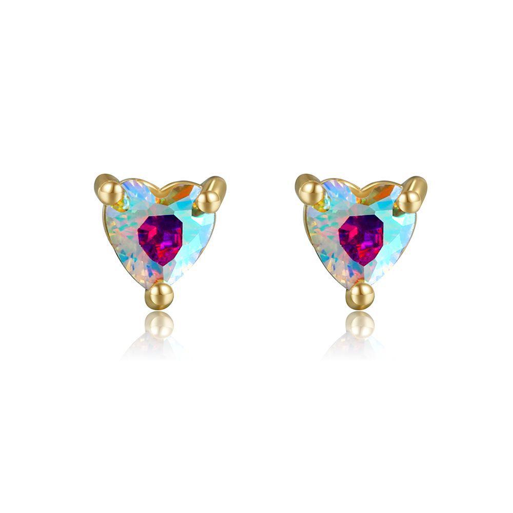 Wholesale golden ice cream color zirconium earrings Nihaojewelry  NHUW379096