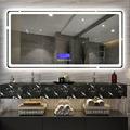 定制LED智能浴室镜壁挂卫生间电子防雾镜梳妆镜带灯蓝牙镜子