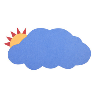 Sun cloud felt can be used for kindergarten children's work display wall family photos comfortable and beautiful decorative wall stickers