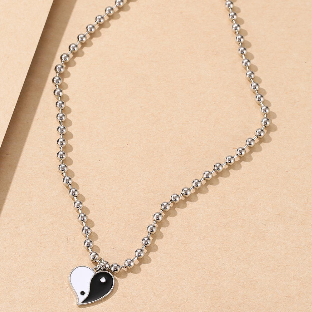 Wholesale New Creative Crown Tai Chi Letter Heart Necklace Nihaojewelry  NHYIA401099