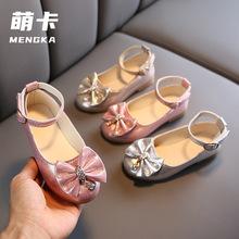 女童鞋皮鞋2020新款秋款 儿童软底浅口单鞋 小女孩公主鞋洋气春季