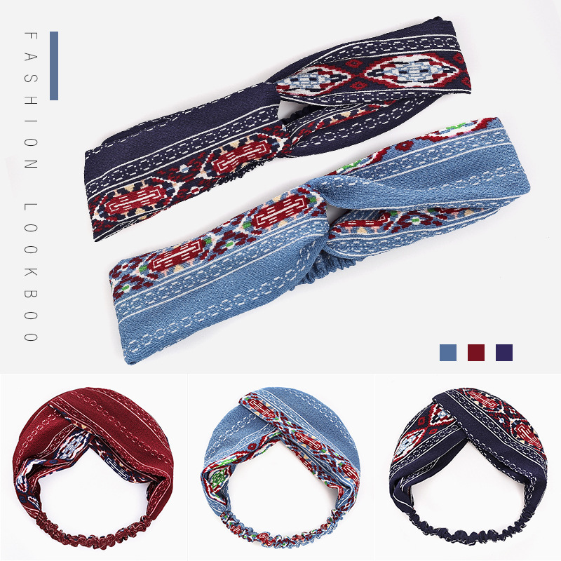 ethnic style cloth knotted headband  NHWB332753
