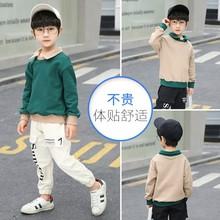2021春裝新款男童春秋套裝運動男孩帥氣洋氣中大童兩件套韓版批發