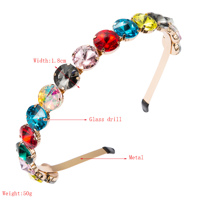 fashion simple metal round glass headband  NHLN307833