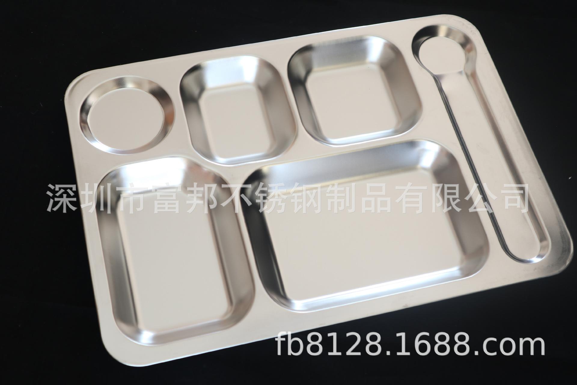 厂价直销304不锈钢大六格快餐盘 加厚快餐盘 不锈钢快餐盘大六格