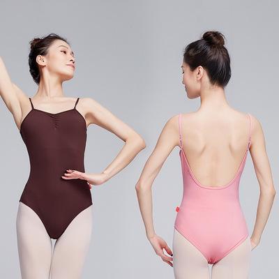 Black coffeee wine Ballroom ballet latin dance jumpsuits gymnastics practice Dance clothes for female adult ballet suspenders bodysuits classical dance performance tops