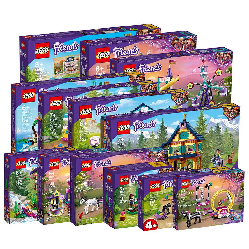 新品LEGO乐高41679森林小屋 41681森林野营车和帆船 拼搭积木玩具