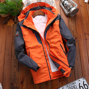 Autumn and winter outdoor couple jackets trendy mountaineering ski wear new color matching fashion jackets custom logo