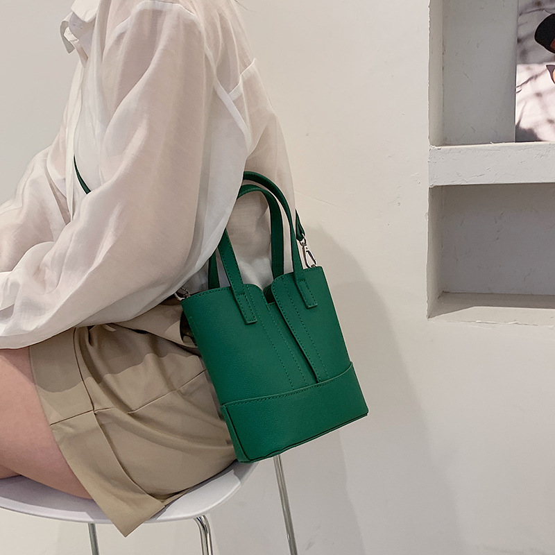 Fashion portable solid color tote bucket  NHWH337679