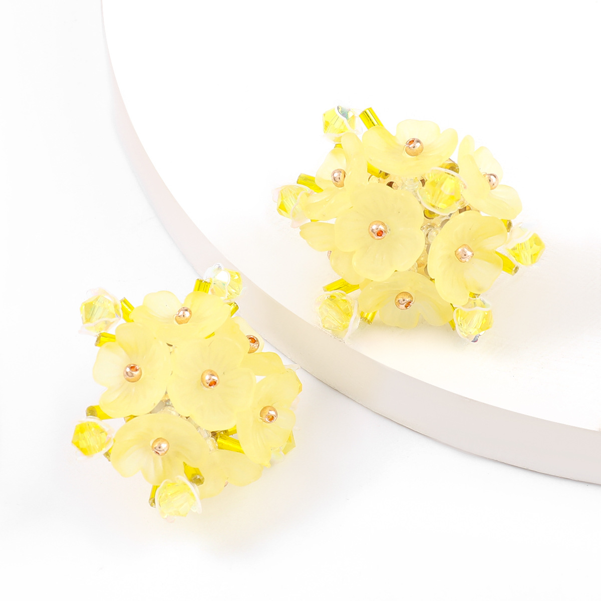 fashion resin acrylic flower earrings  NHJE336273
