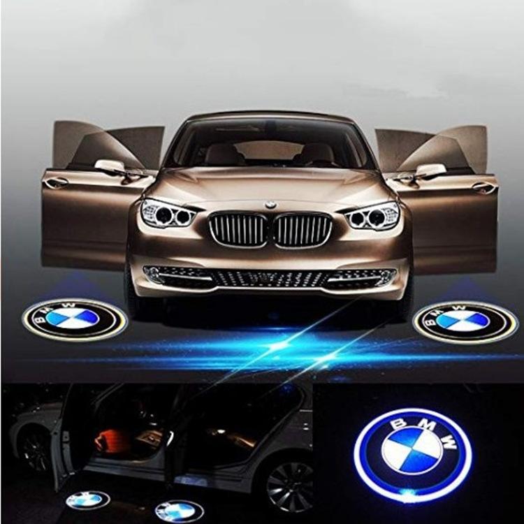 跨境 適用于寶馬專用迎賓燈 3系5系 車門LOGO 投影燈 鐳射燈改裝