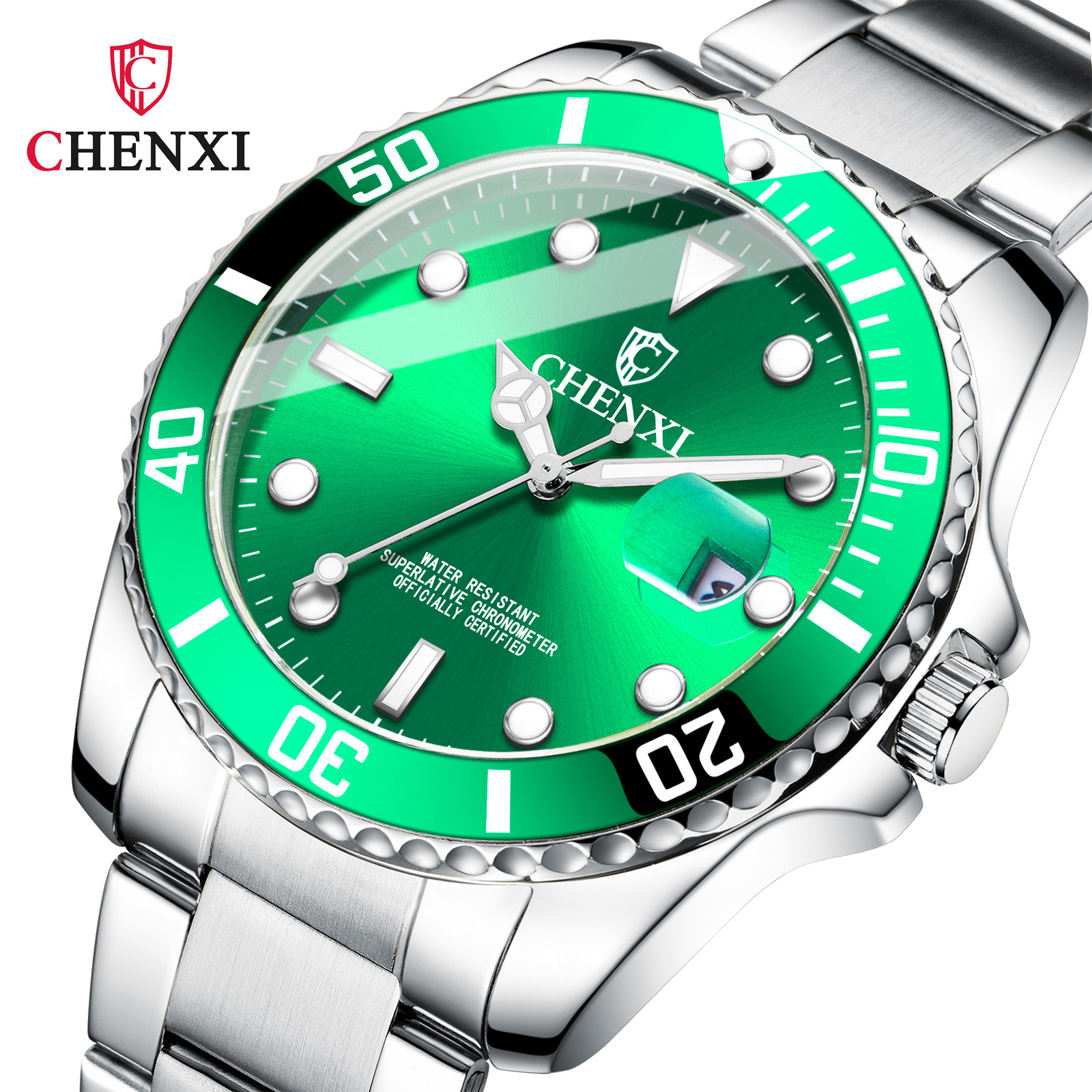 Green water ghost watch female men's non...
