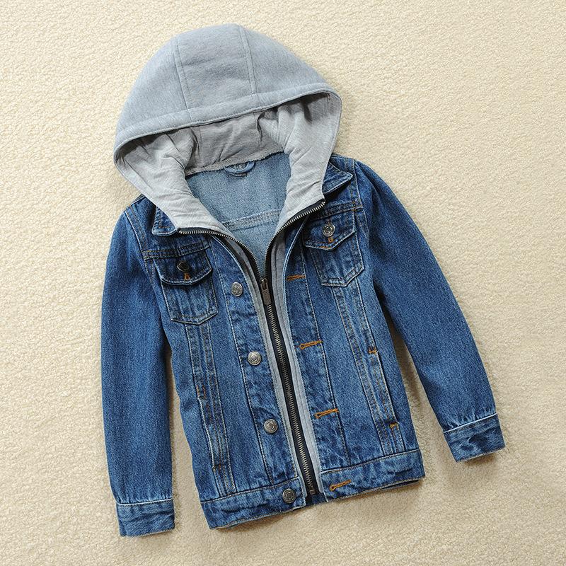 一件代发童装儿童男童牛仔外套中大童中小童上衣女童夹克厂家批发