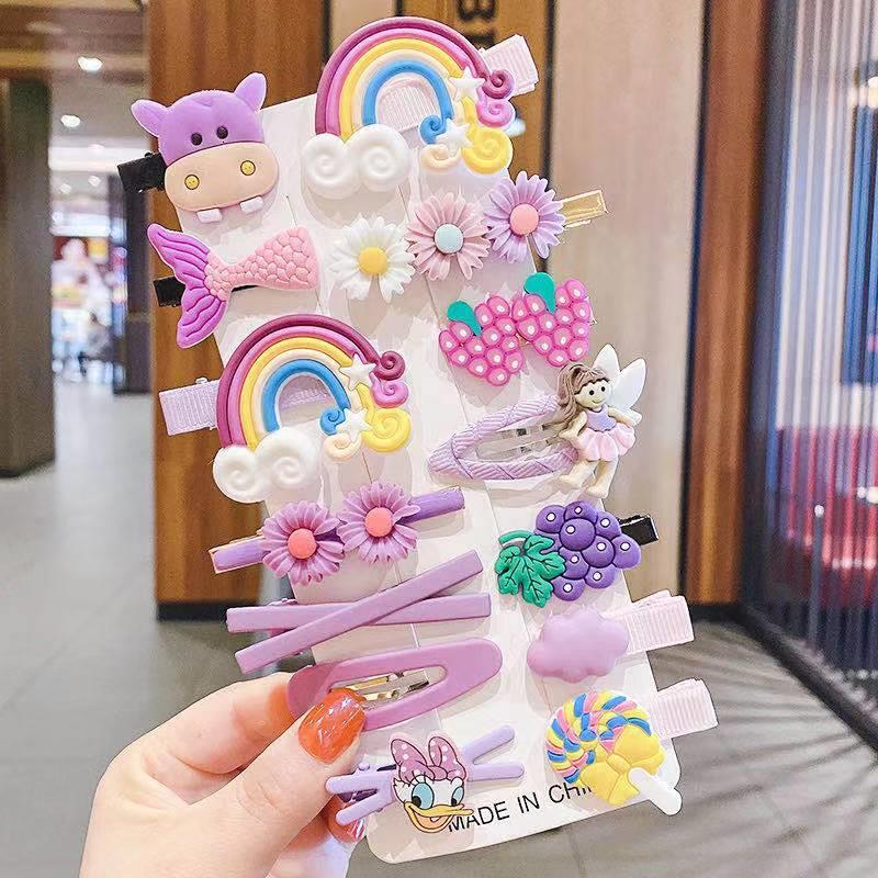 cartoon Korean cute new style animal flowers hairpin set NHOF347784