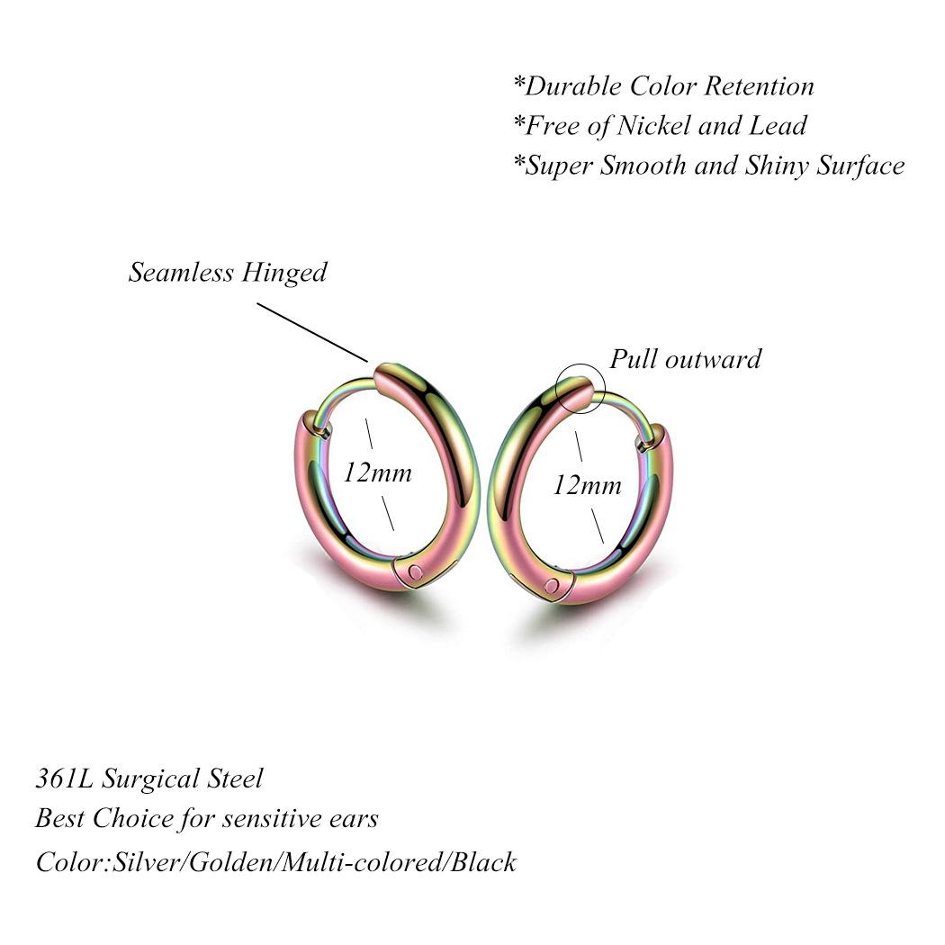simple  stainless steel earrings NHJJ291505