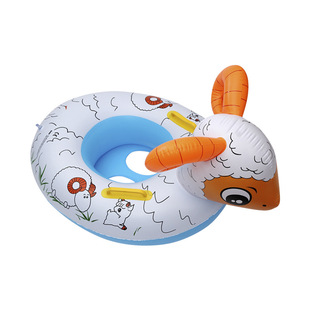 Children's swimming seat boat infant seat ring water lifebuoy inflatable animal swimming ring swimming ring inflatable toy