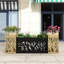 户外园艺花架铁艺花坛花箱组合花槽广场售楼部商业街隔断种植定制