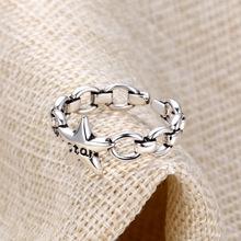泰银戒指复古银戒指女戒指女时尚个性戒指女ins潮铜镀泰银戒指男