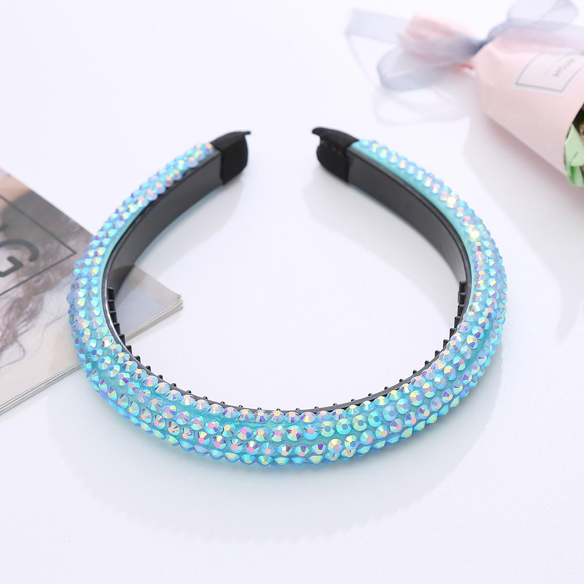 fashion geometric inlaid rhinestone sponge headband wholesale  NHJJ367458