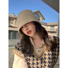 慵懒风毛衣2020年新款女韩版撞色针织衫马甲短款上衣秋冬复古女