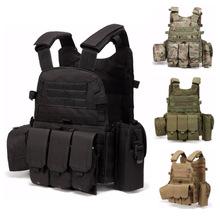 6094战术户外背心马甲组合MOLLE军迷作训服吃鸡CS野战装备防刺服
