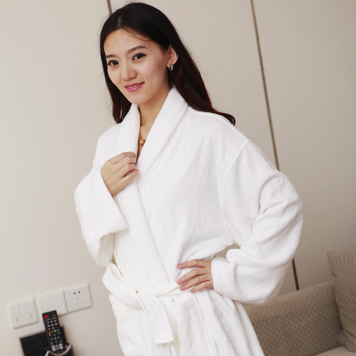 精品民宿星级酒店宾馆加厚浴衣纯棉割绒浴袍浴衣睡衣可定制LOGO