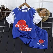 童装男童夏装套装2021新款儿童夏季中小童短袖篮球服运动帅气潮衣