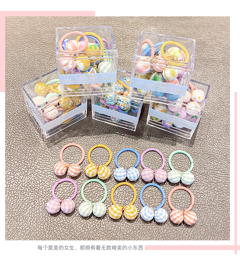 Korean childrens candy color hair rope NHNA339966