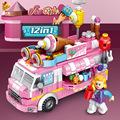 兼容乐高蛋糕车女娃娃儿童玩具积木抖音益智DIY手工拼接热销夜市