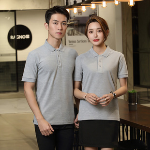 Lapel T-shirt, advertising shirt, pure color polo shirt, short-sleeved moisture-absorbent and breathable overalls, cultural shirt, T-shirt