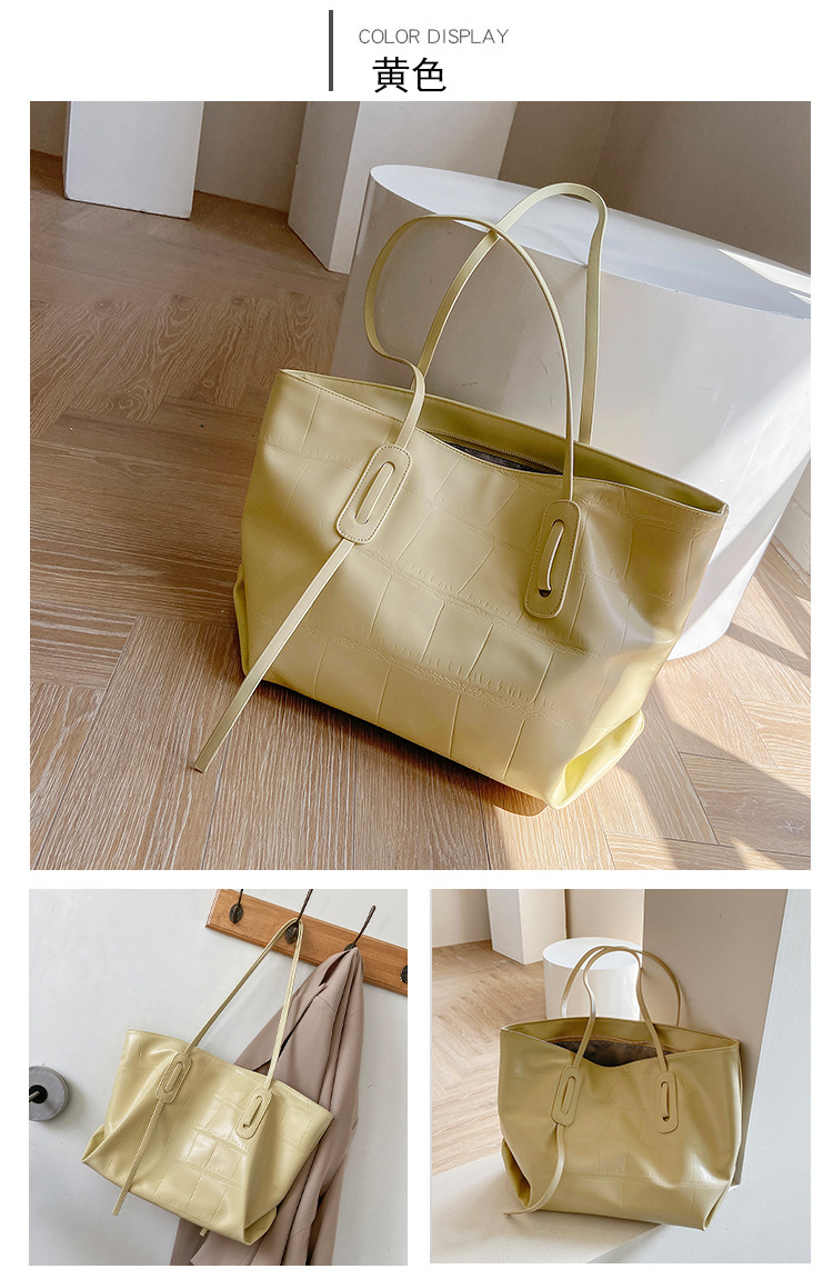 korean fashion new trendy solid color large capacity tote bag NHJZ340966