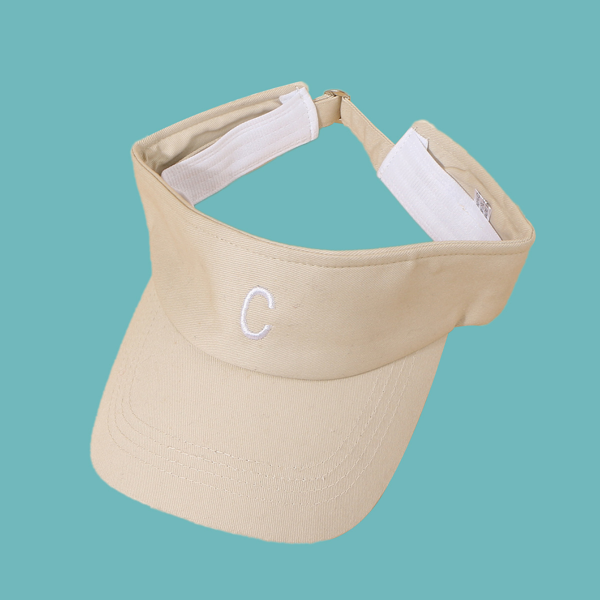 Simple embroidery letter widebrimmed sunshade empty top cap NHTQ332409