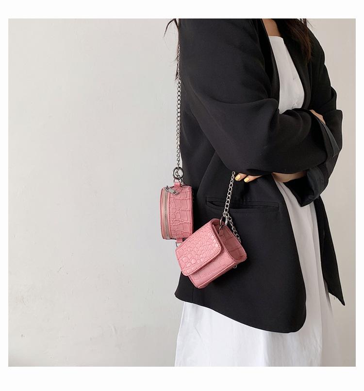 Fashion large chain stone pattern messenger shoulder bag NHLH332056