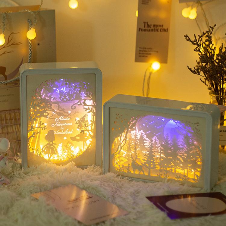 创意纸雕灯3D小夜灯台灯公司活动赠品礼品情侣闺蜜学生教师节礼物