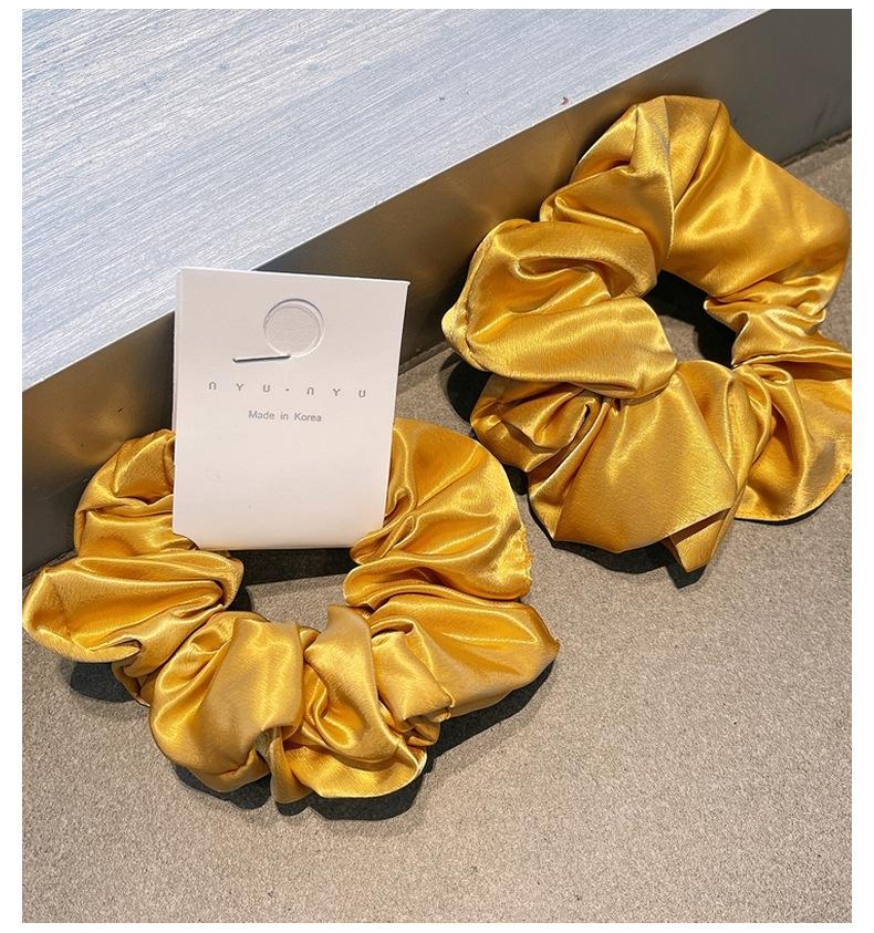 Korean solid color hair scrunchies NHHD316683