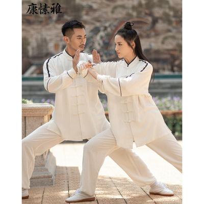 Comfortable and breathable Taifu men's and women's cotton and hemp thickened suit Jiguo martial arts suit