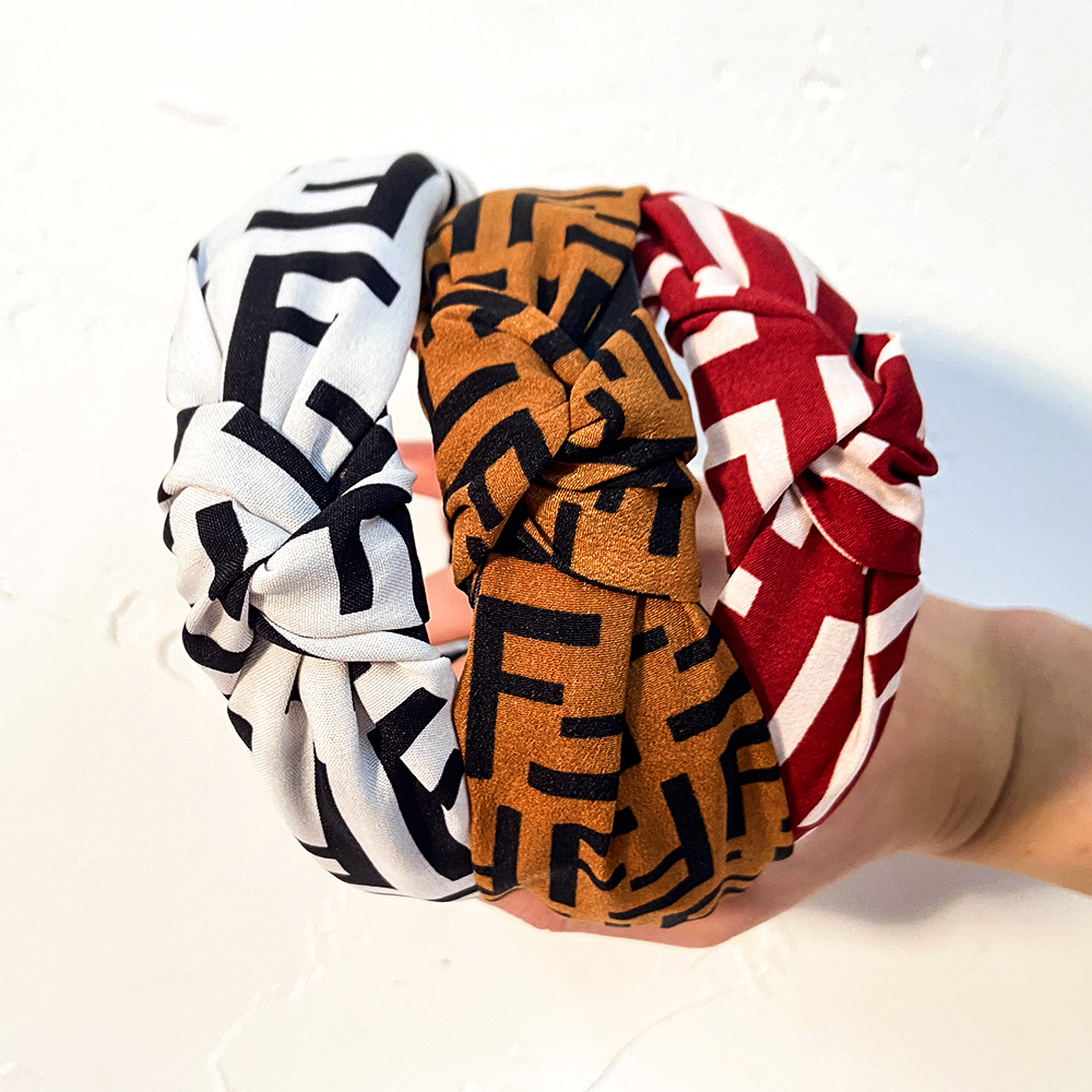 simple fabric knotted letter headband  NHCL308101