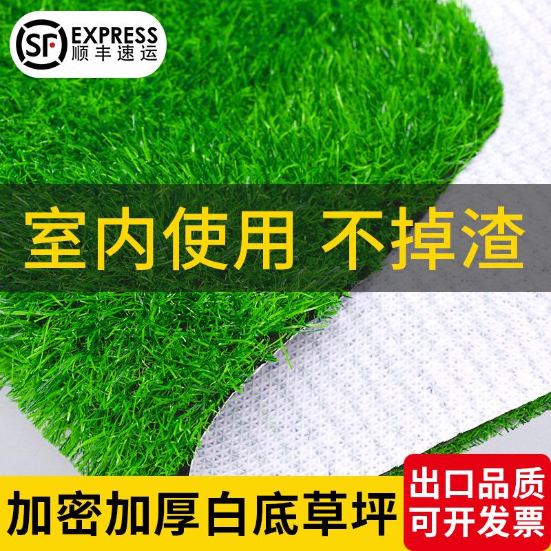 仿真草坪塑料户外围挡室内人造绿色白底人工假草皮幼儿园装饰地毯