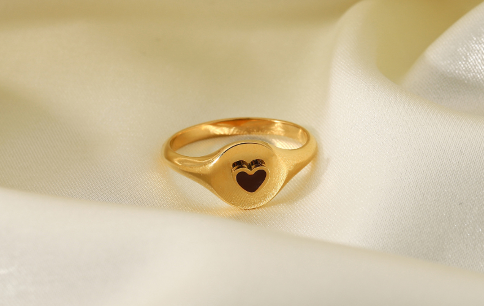 fashion goldplated candy color stainless steel ring NHJIE357171