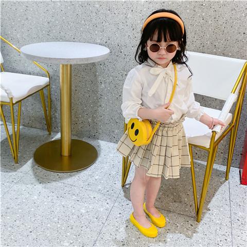 childrens new korean cute smiling face round bag NHAV340973